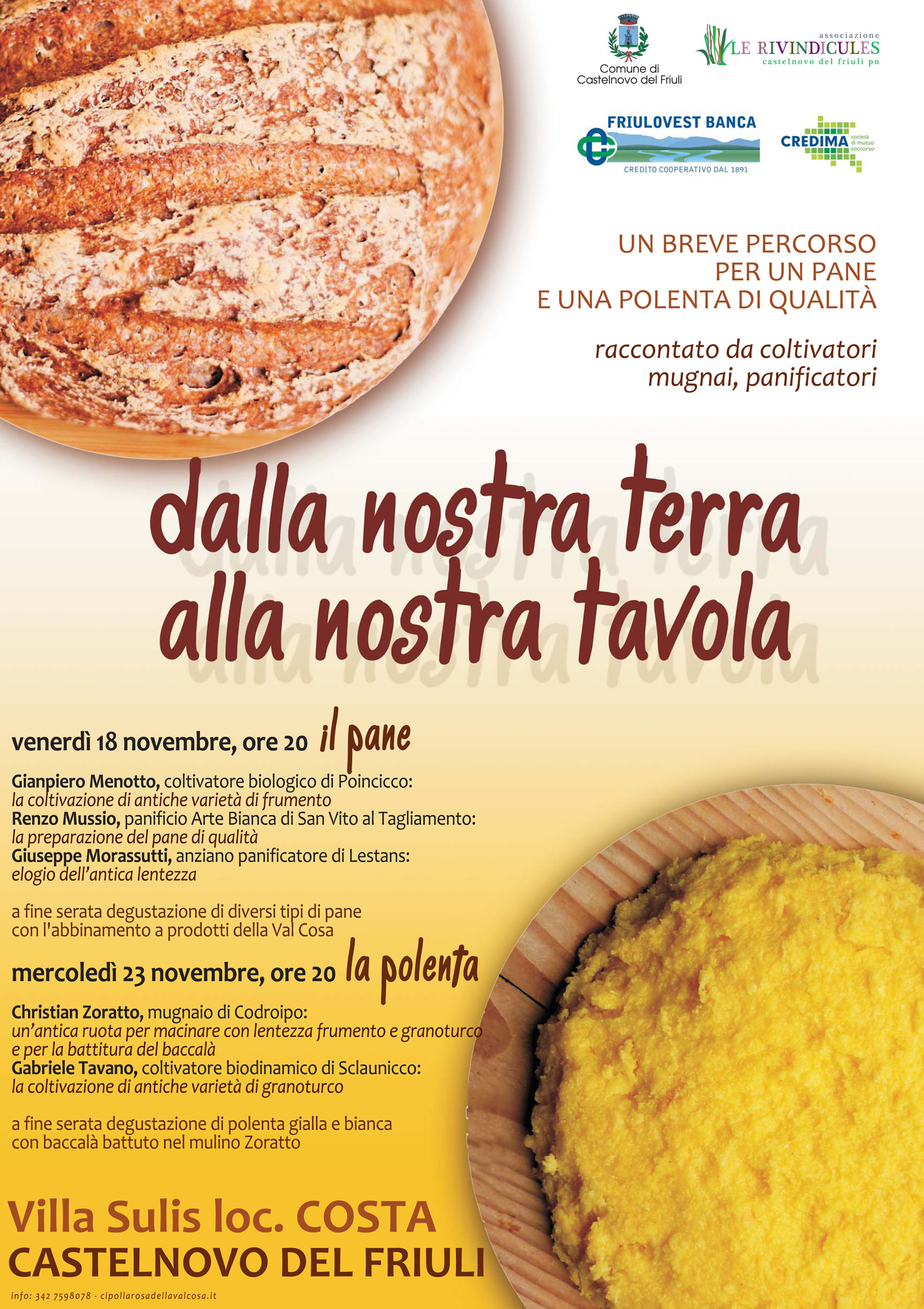 Dalla nostra terra alla nostra tavola incontri sul pane e la polenta di qualit venerd 18 e - Diversi tipi di pane ...